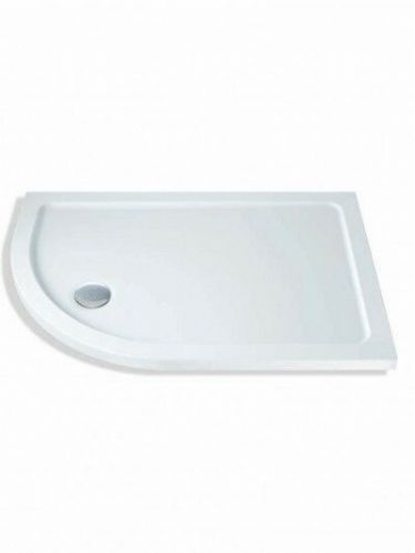 MX DUCASTONE 45 1200X800 OFFSET QUADRANT SHOWER TRAY LEFT HAND INCLUDING WASTE